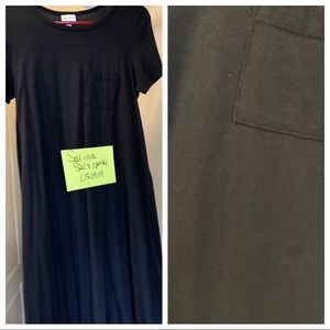 Lularoe black Xs Carly Guc